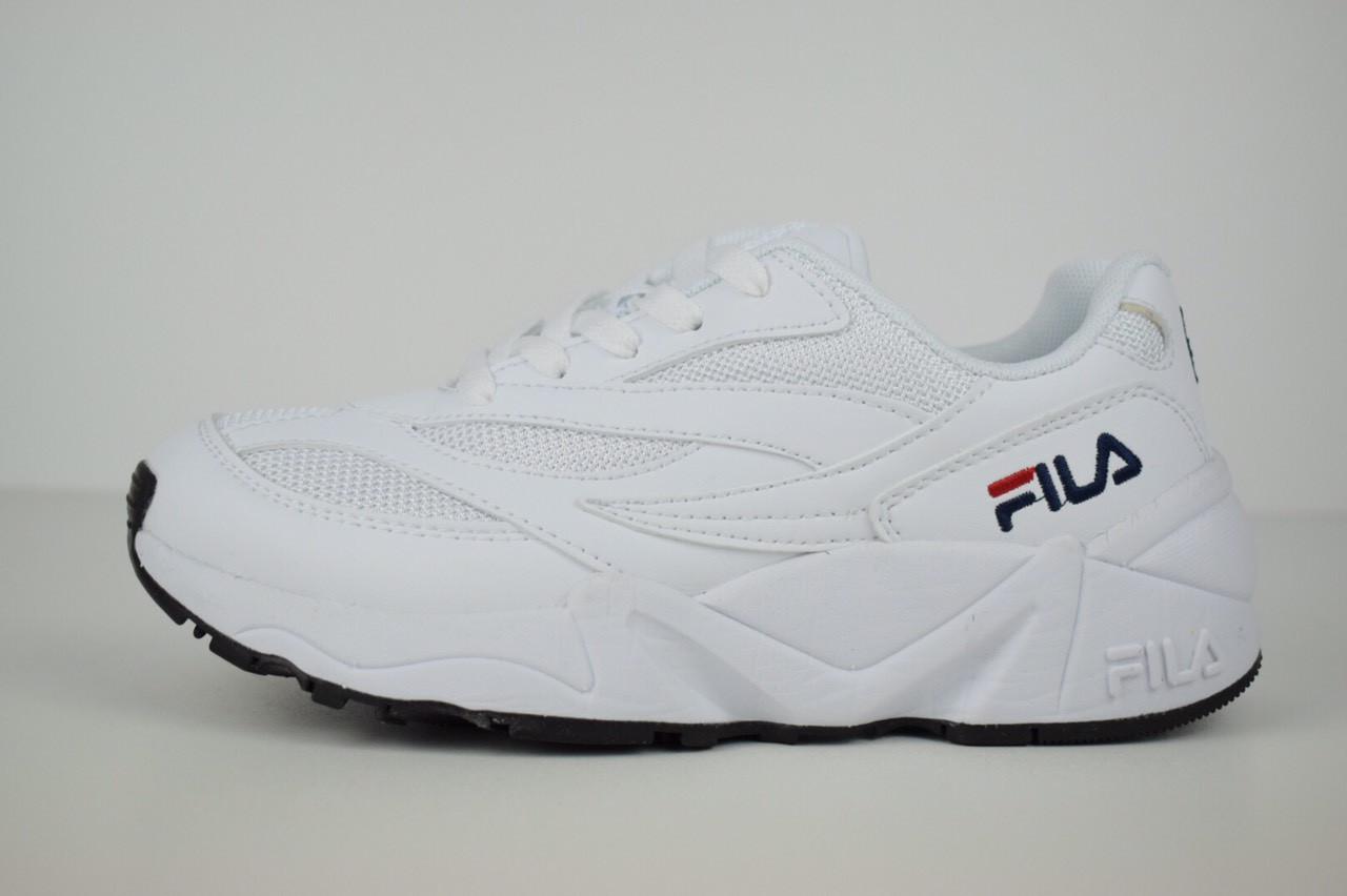 Кроссовки Fila Venom, кожаные, цвет — белый