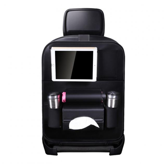 Soolu Авто Органайзер на спинку сидения в автомобиль чёрный. Аксессуары для авто