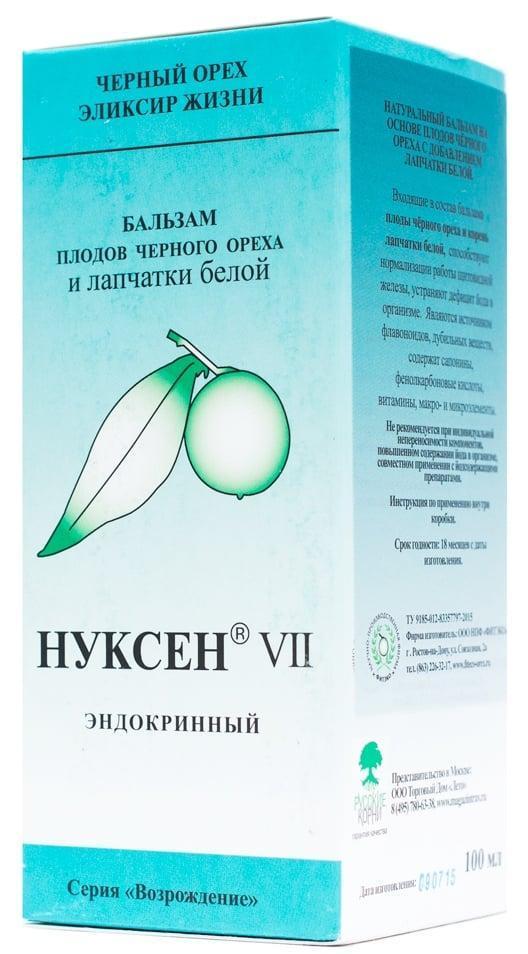 БАД Нуксен 7 эндокринный с лапчаткой белой 100 мл