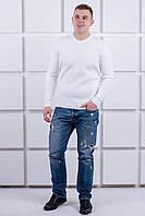 Мужской свитер Эмильян (белый), фото 1