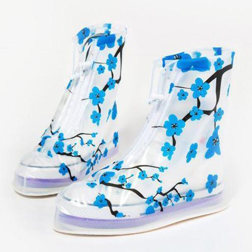 """Водонепроницаемые чехлы для обуви """"Цветы"""" - 2 вида"""