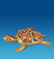 Позолоченная фигурка Черепаха с цветными кристаллами Сваровски