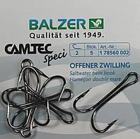 Крючок-двойник Balzer Camtec Double One Hook №1  5шт.