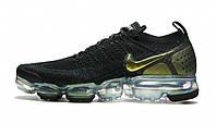 Оригинальные кроссовки Nike Air Vapormax Flyknit 2 Black/Gold (ART. 942842 015)