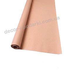 Бумага тишью для упаковки в рулоне пудровый