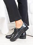 Oksford туфлі чорна шкіра 6648-28, фото 2