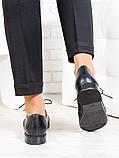 Oksford туфлі чорна шкіра 6648-28, фото 3