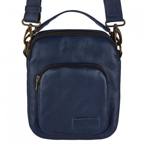 Небольшая повседневная сумка-барсетка Vittorio Safino, синяя VS 019