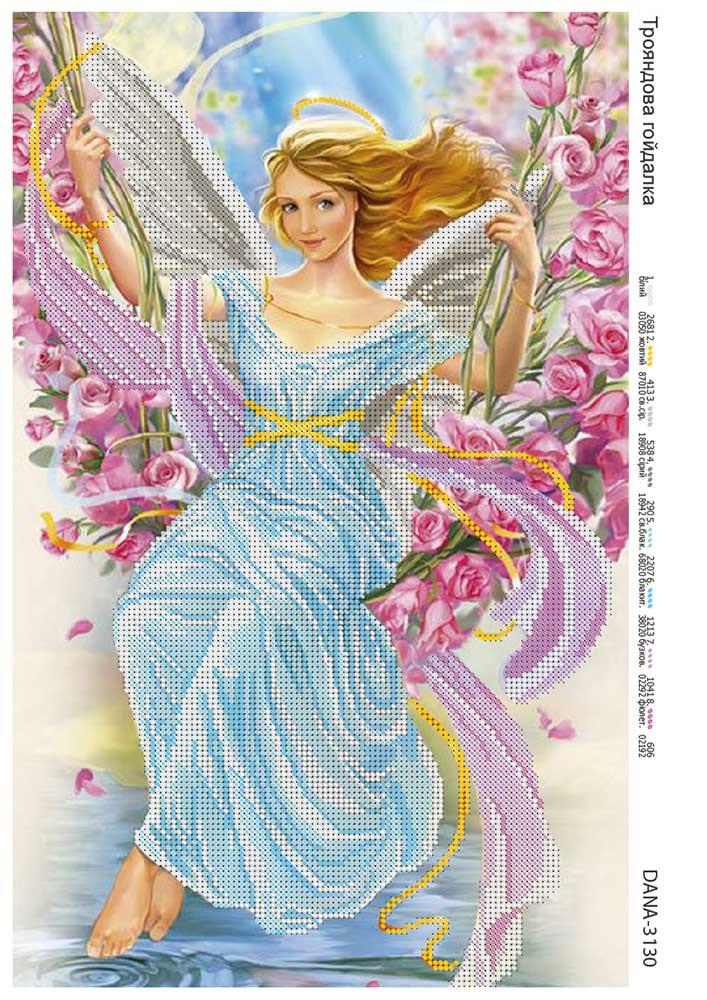 Схема для вышивки Качель с роз