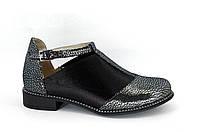 Женские туфли из натуральной кожи с резинкой, фото 1