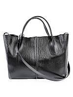 Кожаная сумка черная Monika 6688-11