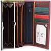 Розовый кошелек матовый кожаный ST высокого качества с внутренней металлической рамкой. SB237 Pink, фото 3