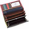 Розовый кошелек матовый кожаный ST высокого качества с внутренней металлической рамкой. SB237 Pink, фото 4