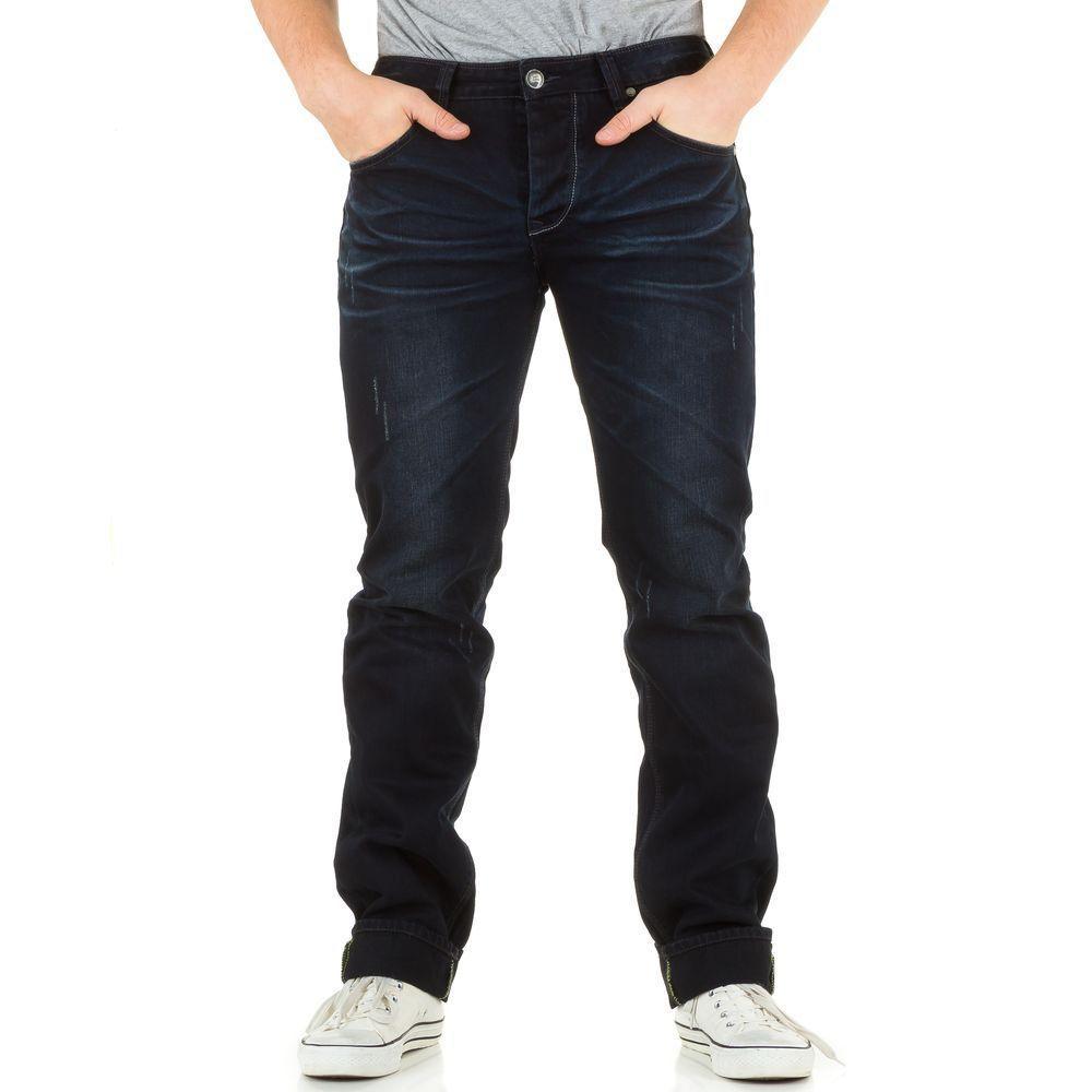 Классические джинсы мужские Sixth June (Европа), Темно-синий