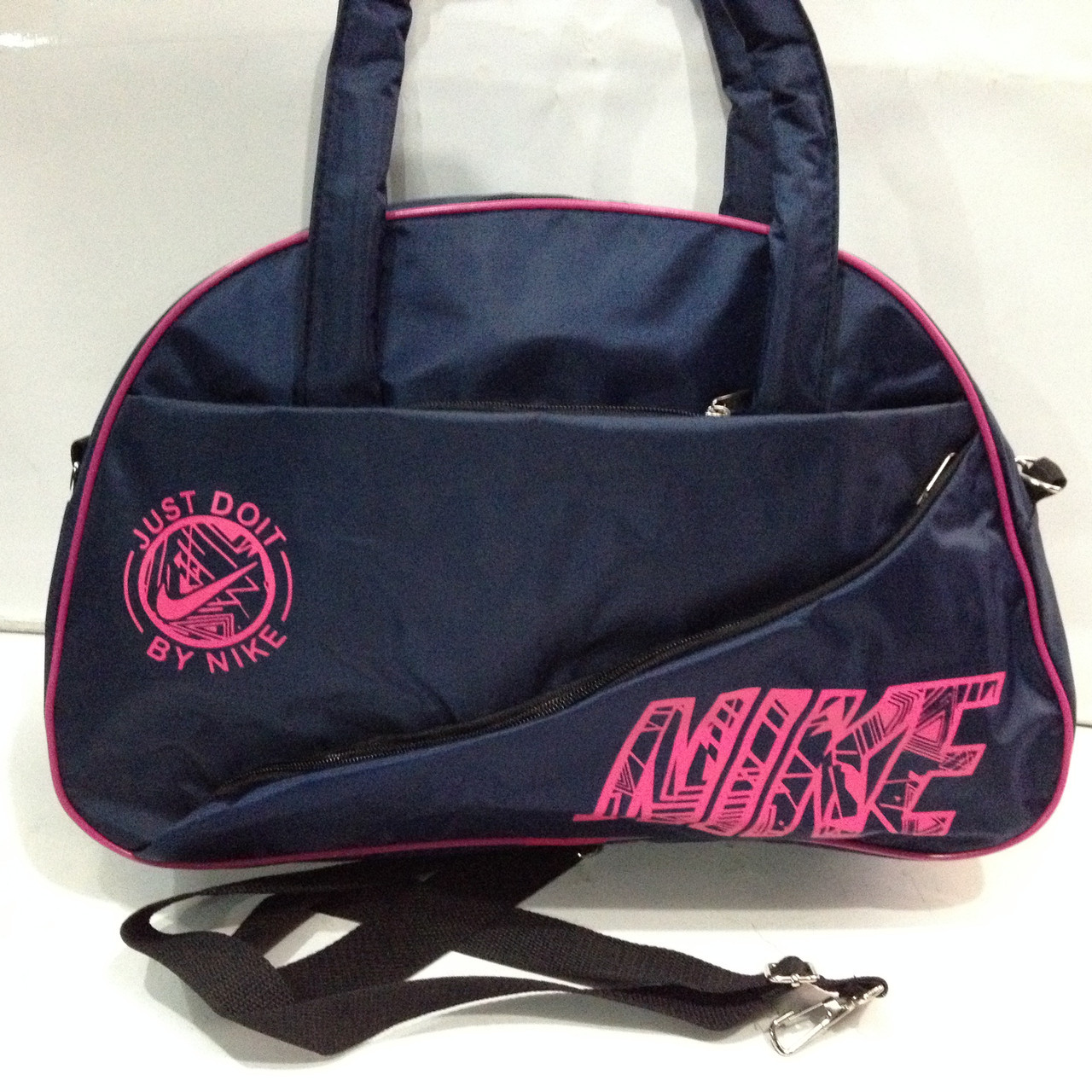 Спортивна сумка Nike синя з рожевим