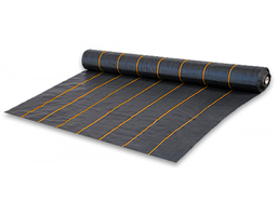 Агроткань от сорняков PP, черная UV, 90 гр/м² размер 1,1м*100м, агроткань мульчирующая