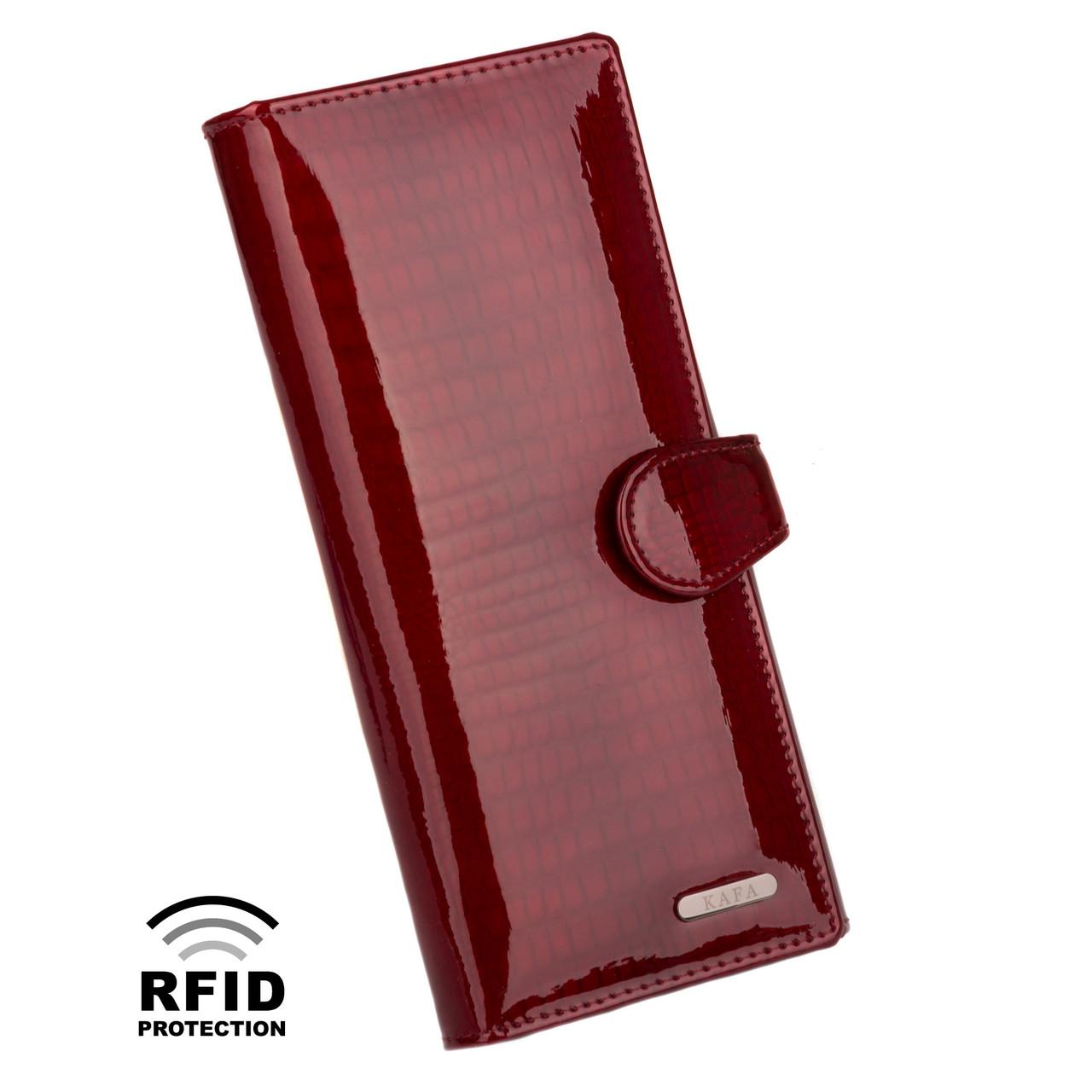 d037af8ab5fd Кошелек Женский Кожаный Лаковый Kafa с RFID Защитой (AE031 Red) — в ...