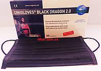 Защитные 4-х слойные маски с активированным углем Unigloves Black Dragon, фото 1