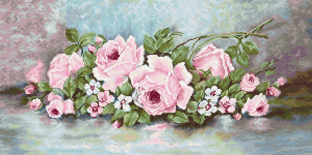 Набір для вишивки хрестом Luca-S B584 «Троянди»