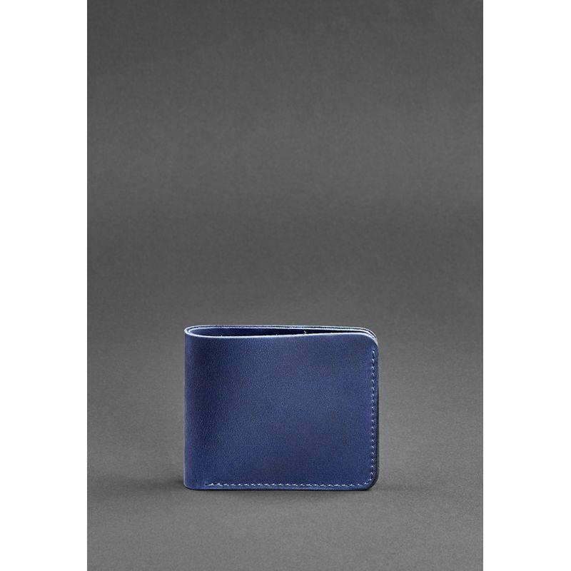 Мужское кожаное портмоне 4.1 (4 кармана) синее