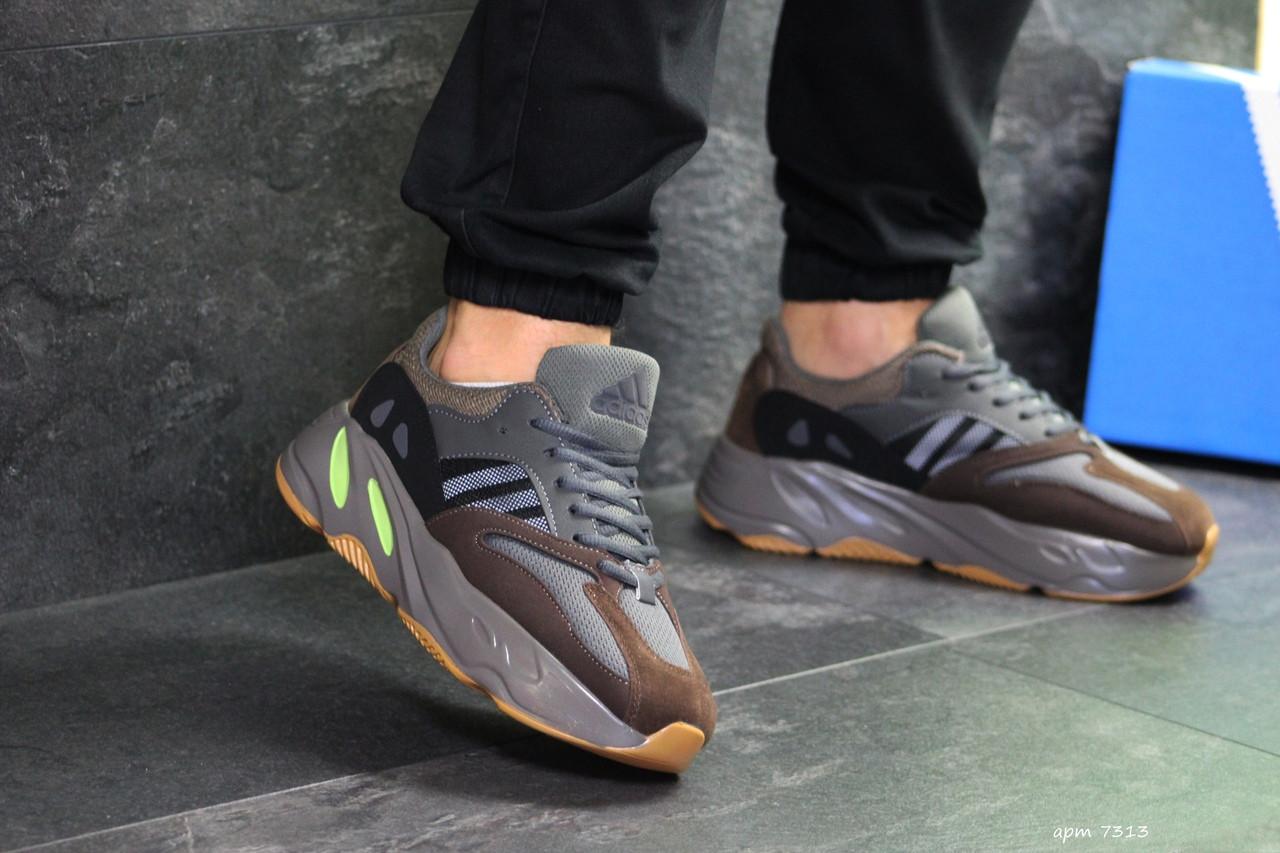 Мужские кроссовки Adidas x Yeezy Boost 700 OG (Серо-коричневые)