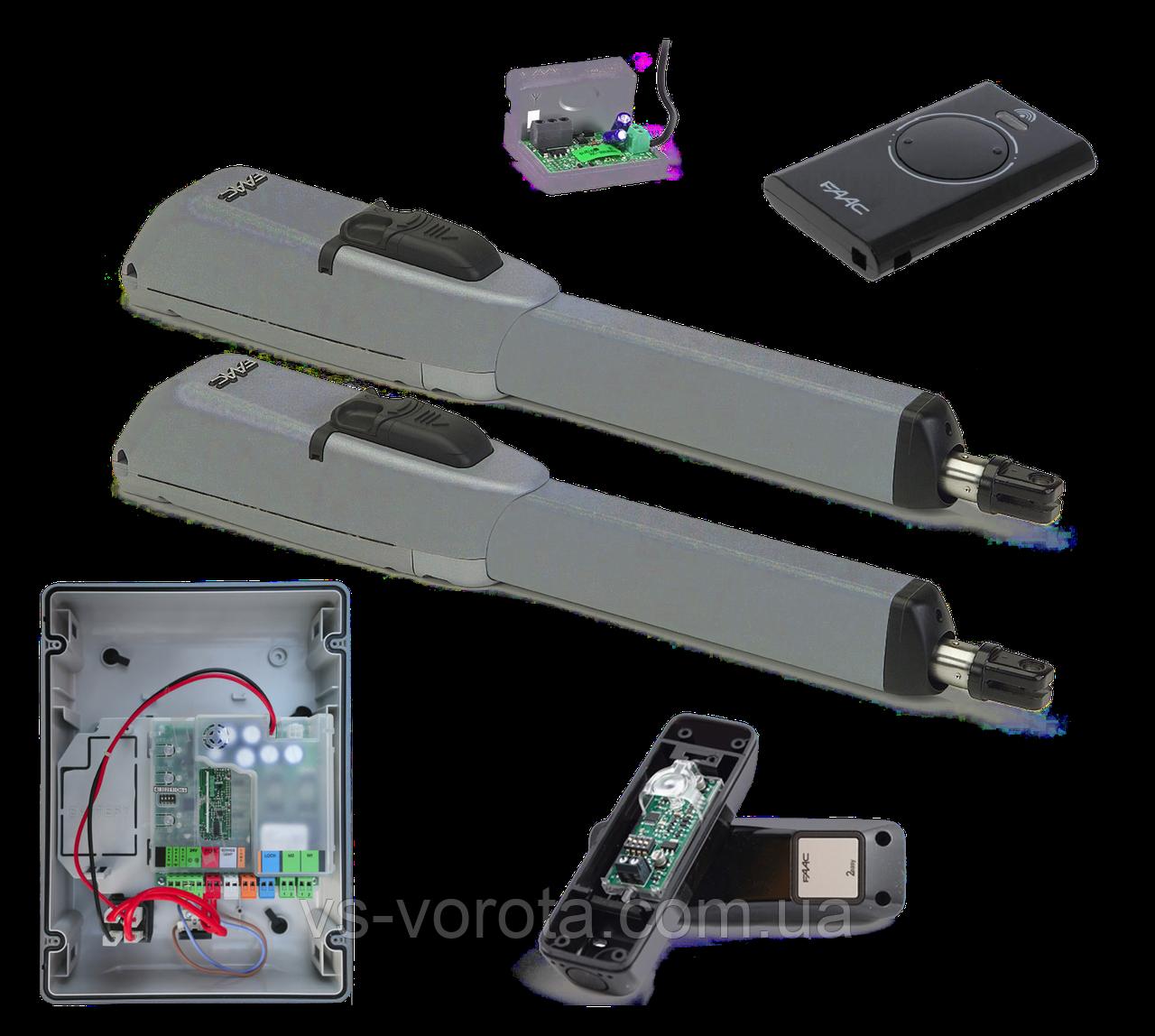 FAAC 415 LS — автоматика для распашных ворот (створка 2,5 до 3 м с электромех. конц.)