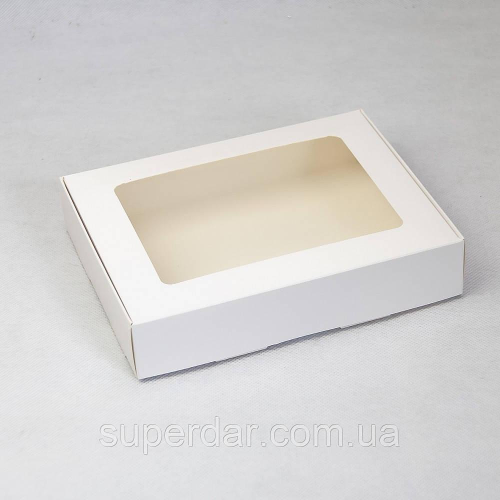 Коробка с прозрачным окном 192х148х40 мм, БЕЛАЯ
