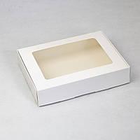 Коробка з прозорим вікном 192х148х40 мм, БІЛА