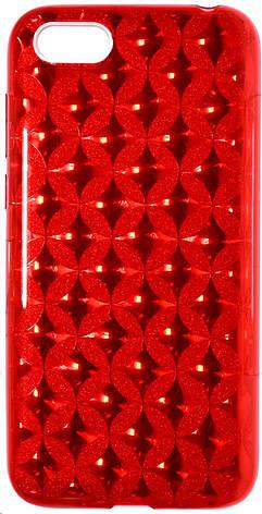 Чохол-накладка Milkin-Surperslim для Huawei Y5 2018-Glitter Coin ser. Червоний, фото 2