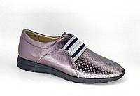 Кожаные женские туфли бронзового цвета, фото 1