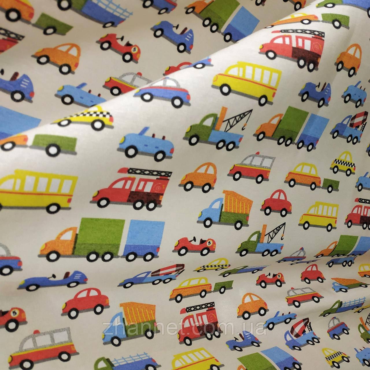 Тканина для штор Cars молочний (462641)