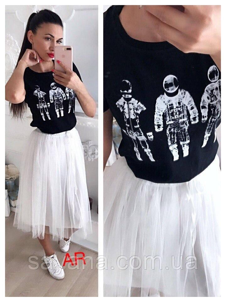Купить Женскую футболку с накаткой в расцветках. АР-13-0219 недорого ... 1932a721806c4
