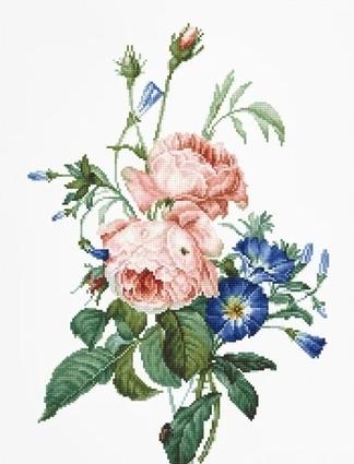 Набір для вишивки хрестом Luca-S B2351 «Букет з трояндами»
