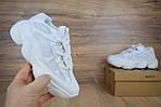 Кроссовки Adidas Yeezy 500, белые, фото 5