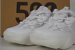 Кроссовки Adidas Yeezy 500, белые, фото 7