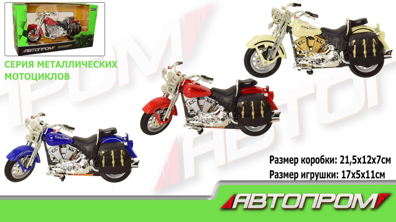Мотоцикл метал-пластик.инерц 7749 72шт3 Автопром в коробке 21,5127см