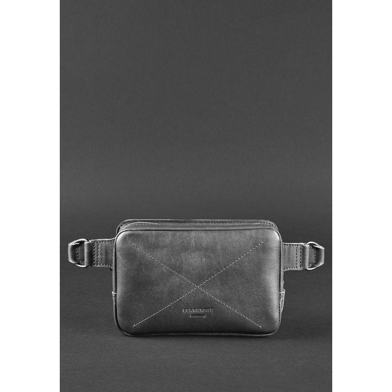Кожаная поясная сумка Dropbag Minі черная
