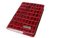 Обложка для паспорта женская кожаная темно-красная Karya 093-08