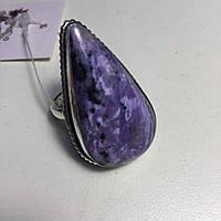 Чароит кольцо с чароитом 17,5. Кольцо с камнем чароит Индия, фото 1