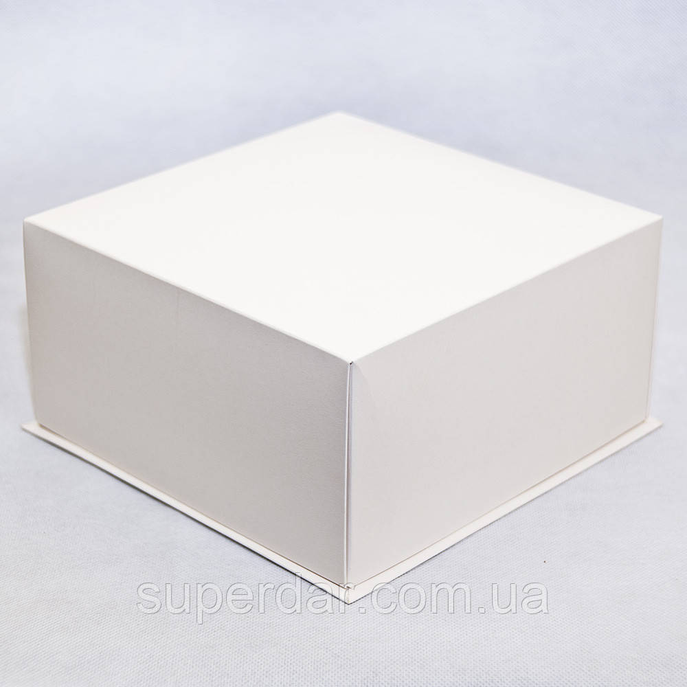 Коробка крышка-дно для торта 210х210х110 мм, белая
