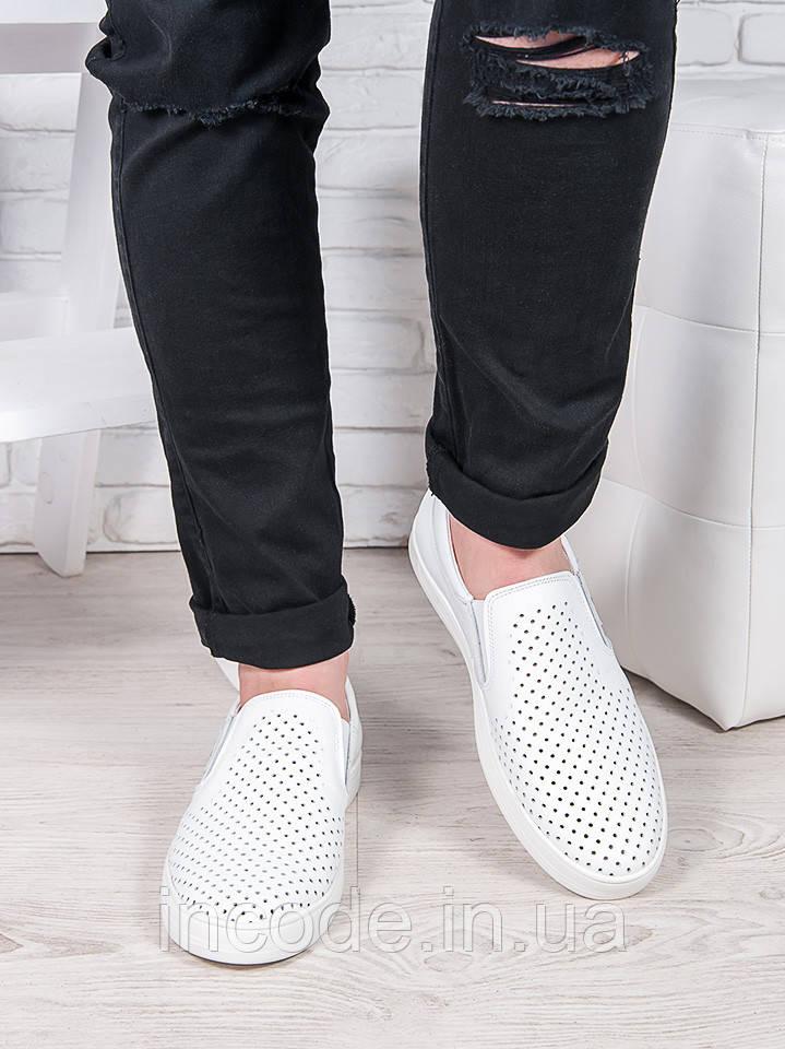 9328f6c84 Купить Летние мужские белые слипоны №2 6901-28 недорого ➤ цены ...