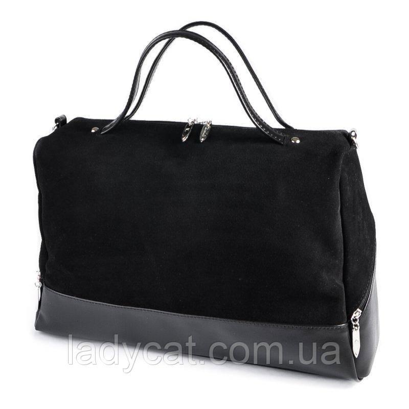 Женская замшевая сумка М113-33/замш