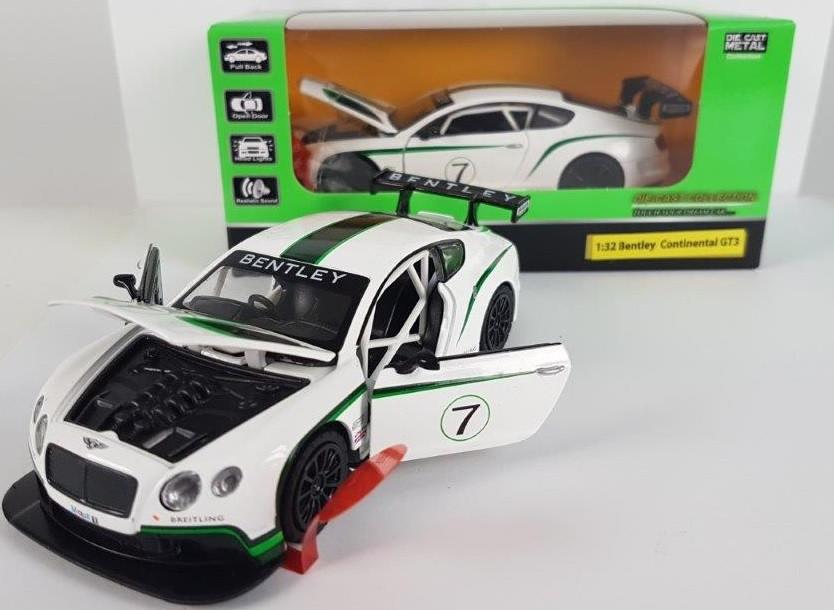 """Машинка """"Автопром"""" 1:32 Bentley  Continental GT3 в коробке 189"""