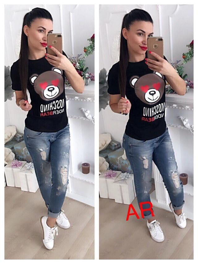 женская футболка с накатом оптом