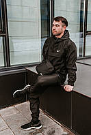 Анорак + Штаны + Подарок Nike спортивный костюм осенний | весенний Найк черный