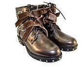 Золотистые демисезонные ботинки для девушек