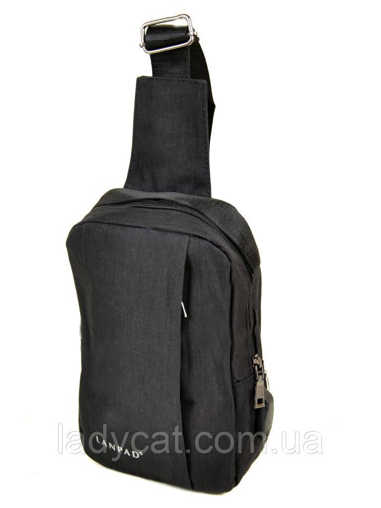 Мужская сумка  на плечо Lanpad 815-1 black