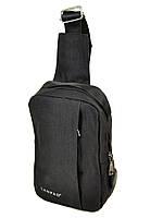 Мужская сумка  на плечо Lanpad 815-1 black, фото 1