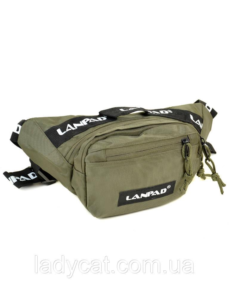 Мужская сумка на пояс Lanpad 301 green