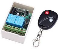 Двухканальный дистанционный выключатель 12В 10A, с пультом управления до 100м.